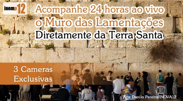 Muro das Lamenta��es 24 horas ao vivo - 3 cameras exclusivas
