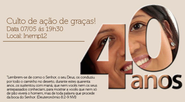 Culto de Ação de Graças - Aniversário Apóstola Zilma Peripato 07/05/14