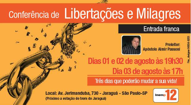 Confer�ncia de Liberta��es e Milagres 2014