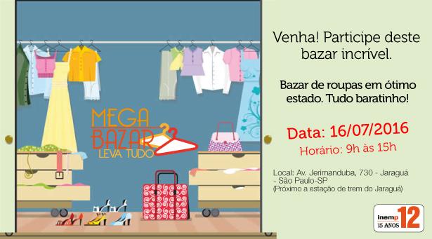 Mega Bazar na Inemp12 Jaraguá 16/07/16